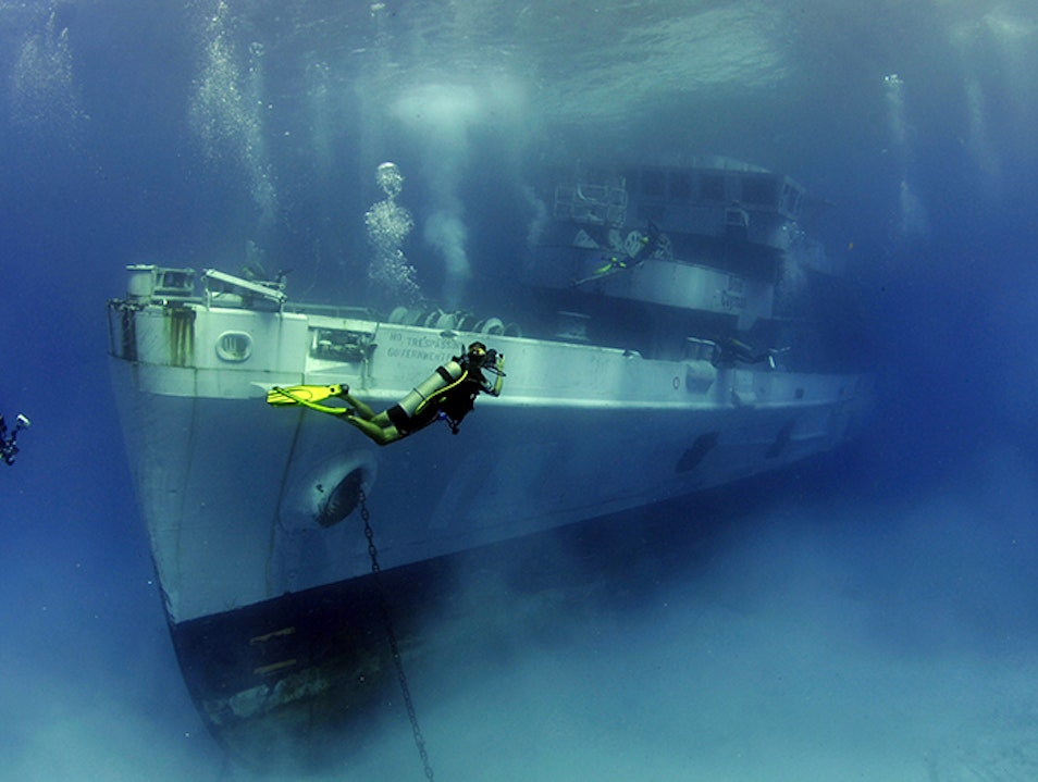 Kittiwake Shipwreck and Artificial Reef West Bay  Cayman Islands