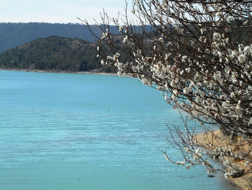 Crystal blue water at Lac de Sainte Croix Sainte Croix Du Verdon  France