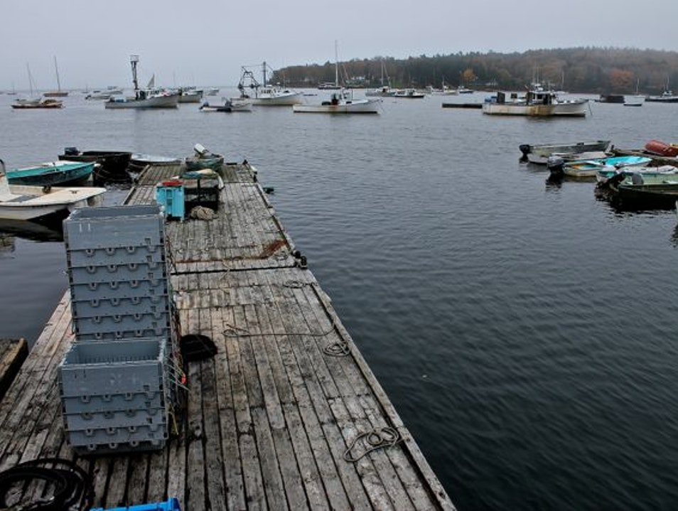 No T-Shirt shops here, the lobster pound serves only lobster Round Pond Maine United States
