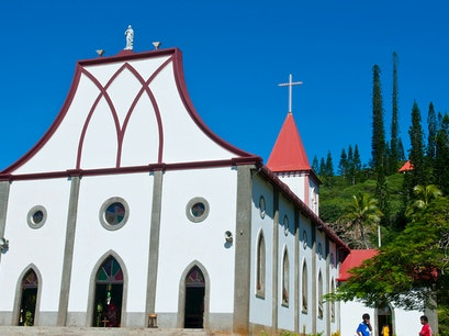 Vao Village and Notre-Dame de L'Assomption Vao  New Caledonia