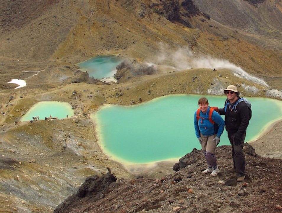 Emerald Lakes Tongariro National Park  New Zealand
