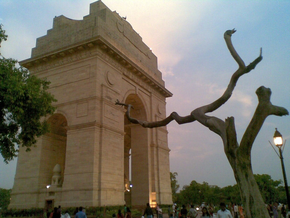 India Gate at Dusk New Delhi  India