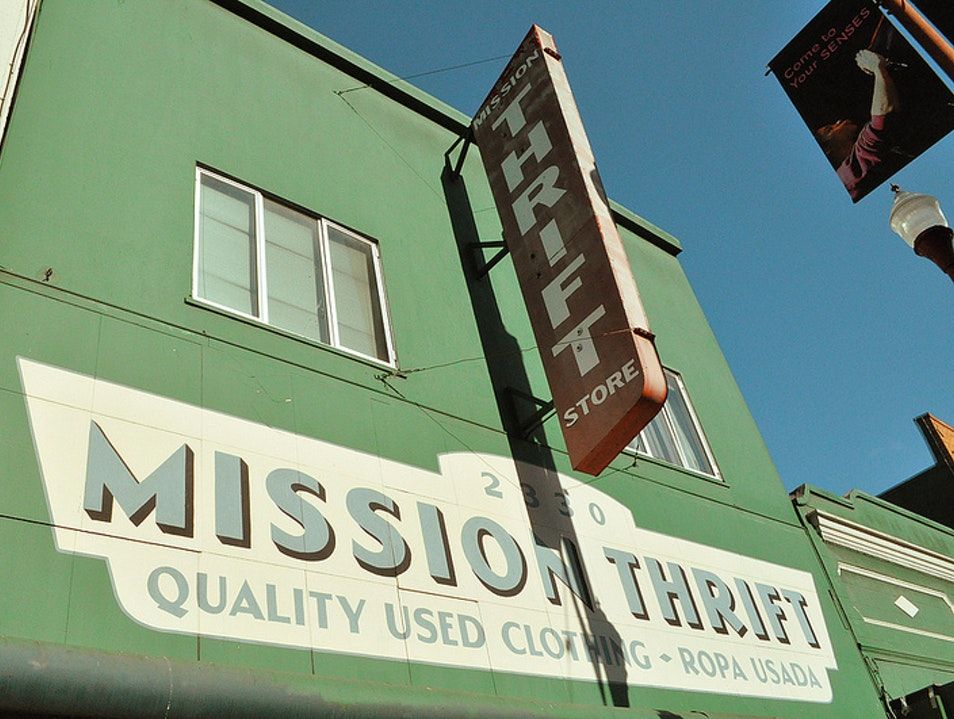 Shopping for Vintage at Mission Thrift San Francisco California United States
