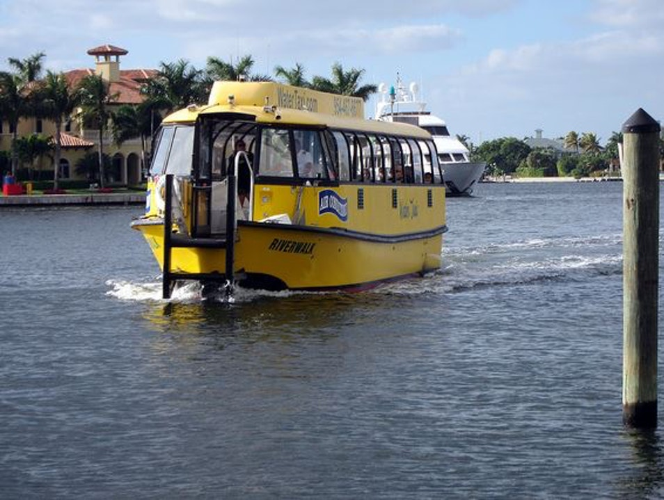 Water Taxi: The Scenic Route to Fort Lauderdale
