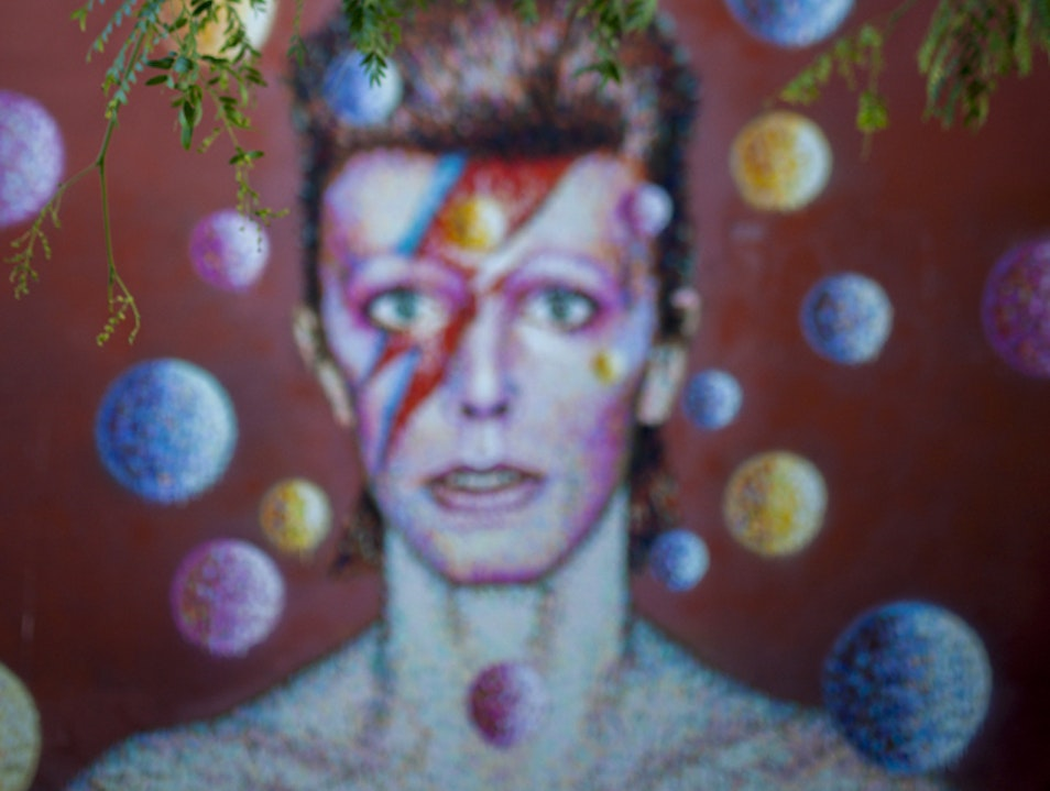 David Bowie's Mural in Brixton  London  United Kingdom