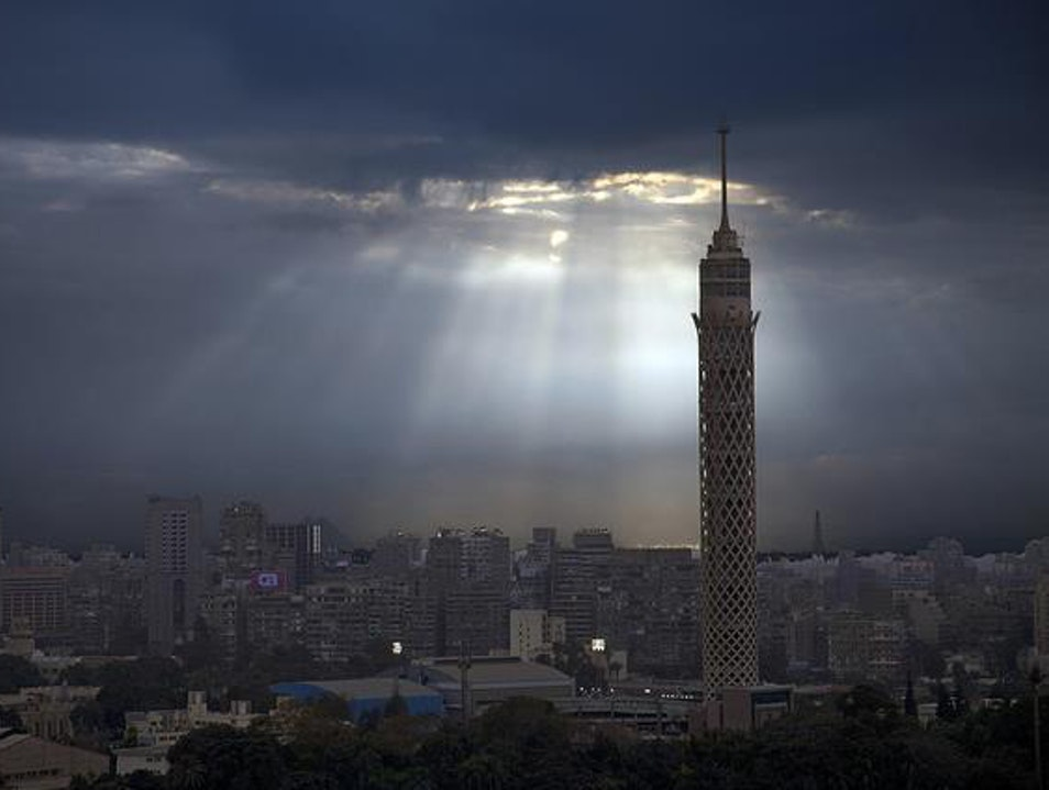 Cairo tower with sky Cairo  Egypt
