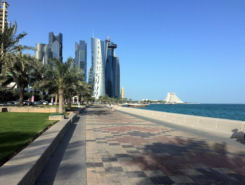 Going for a leisurely walk Doha  Qatar