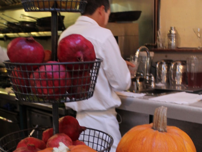 A view of the Open Kitchen at Bistro Ralph's in Healdsburg