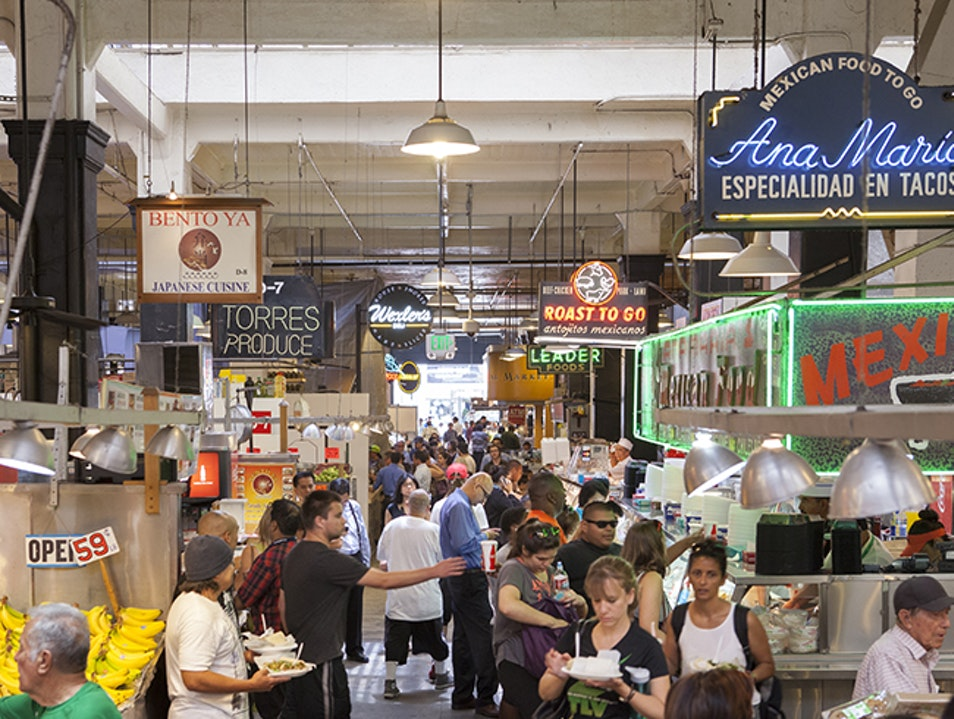 At Grand Central Market, Good Food Goes Way Back Los Angeles California United States