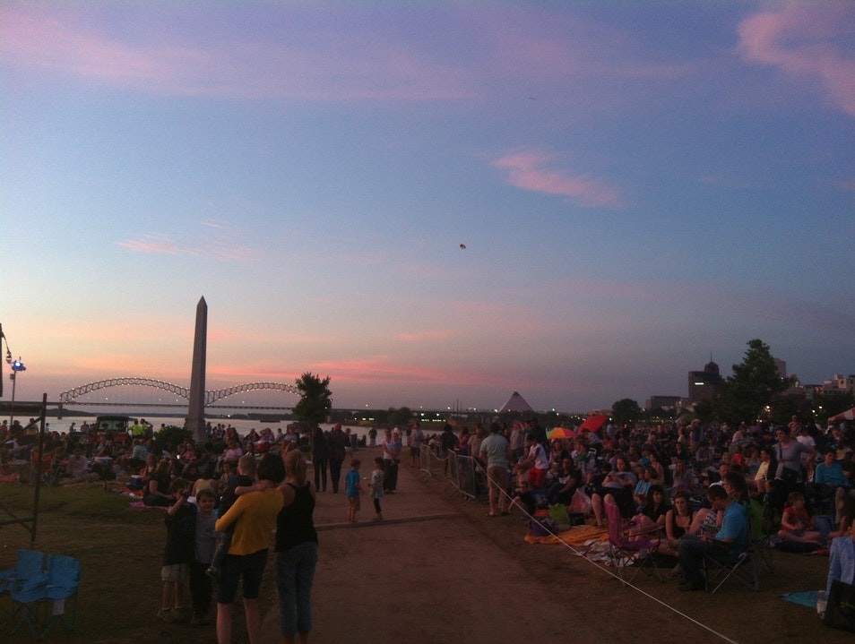 Enjoy a Mississippi River Sunset Memphis Tennessee United States