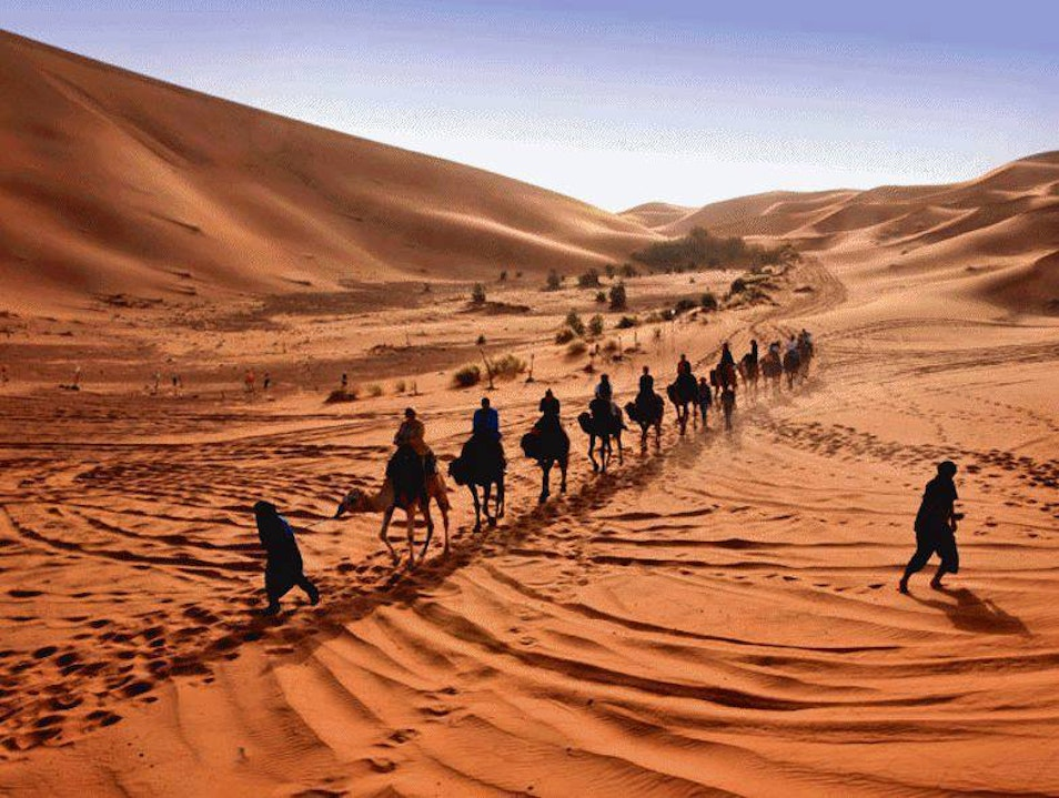 Morocco luxury holidays / Camel trekking in Merzouga / Morocco desert tours Merzouga  Morocco