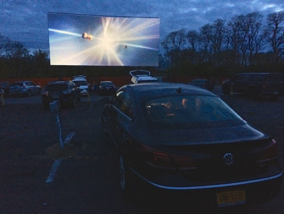 Family Movie Night at the Wellfleet Drive In Wellfleet Massachusetts United States