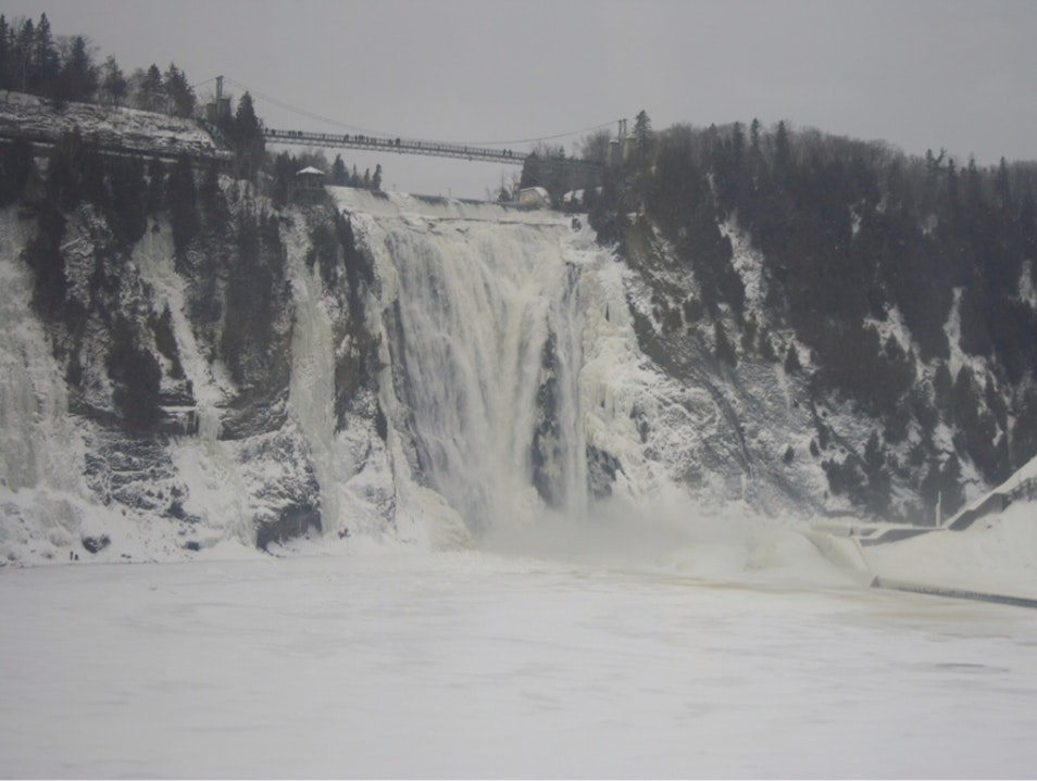 Chutes Montmorency in winter Quebec  Canada