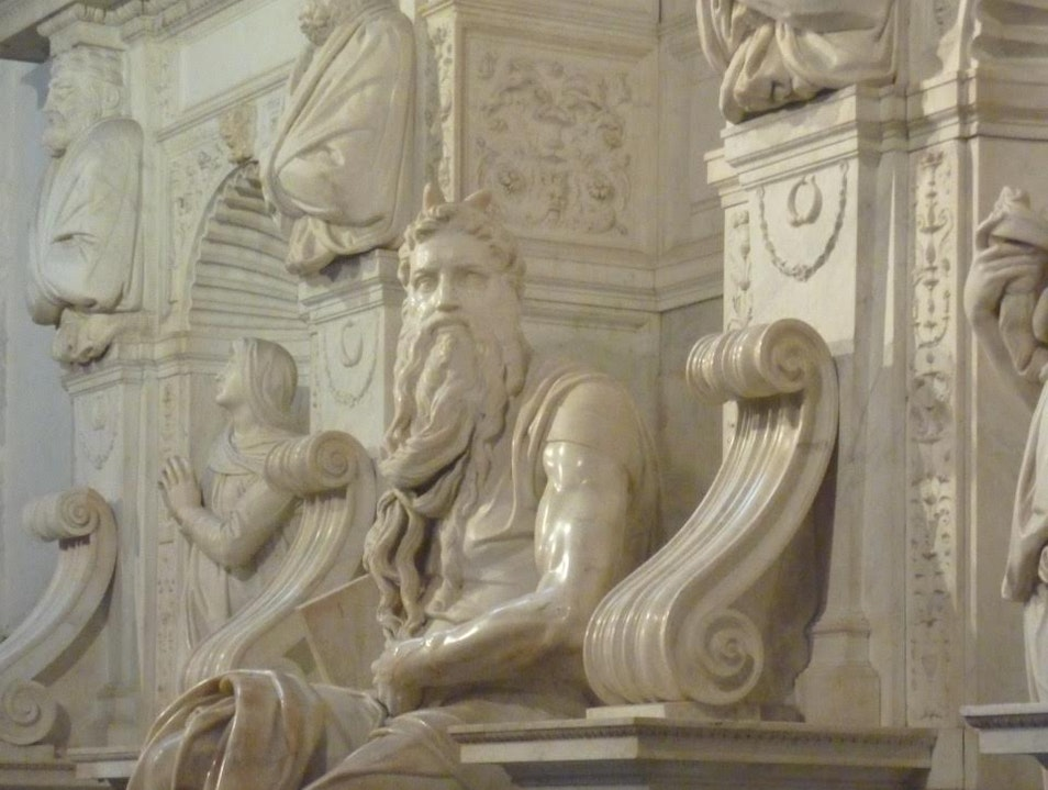 Michelangelo's Magnificent Moses  Rome  Italy