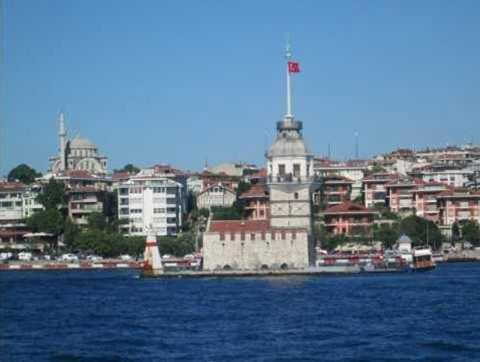 Maiden's Tower Up Close Istanbul  Turkey