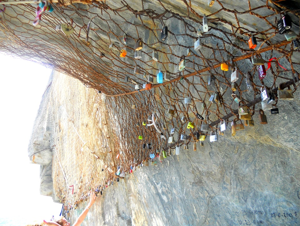 More and more locks. Riomaggiore  Italy