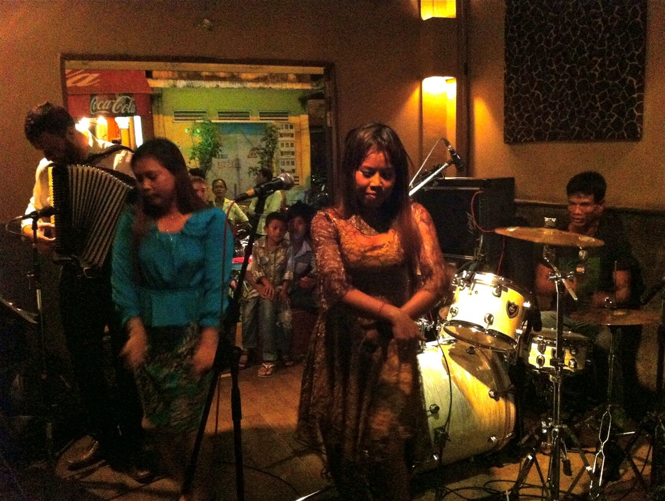 Shoot pool and bop to local bands at Laundry Bar Siem Reap  Cambodia