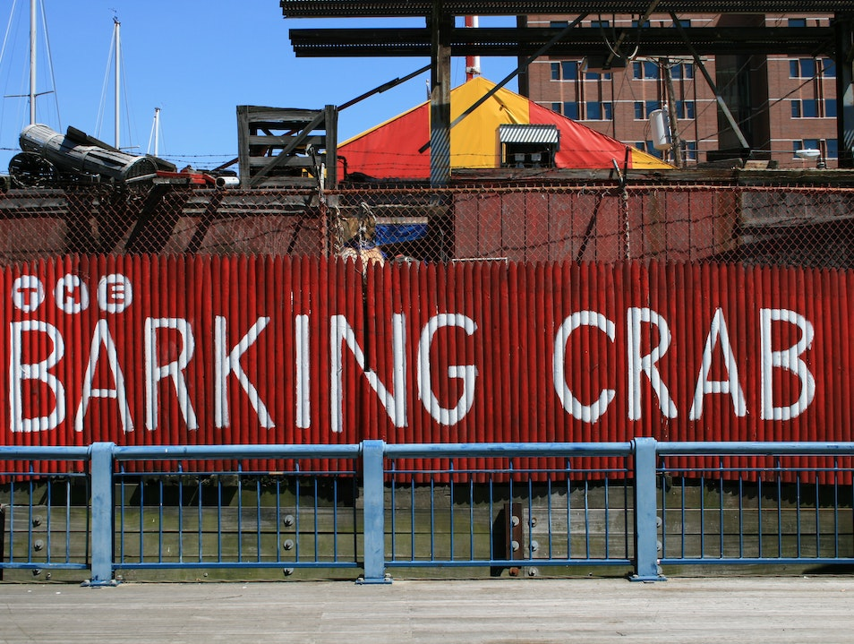 "The Barking Crab: A ""Clam Shack"" along Fort Point Channel Boston Massachusetts United States"