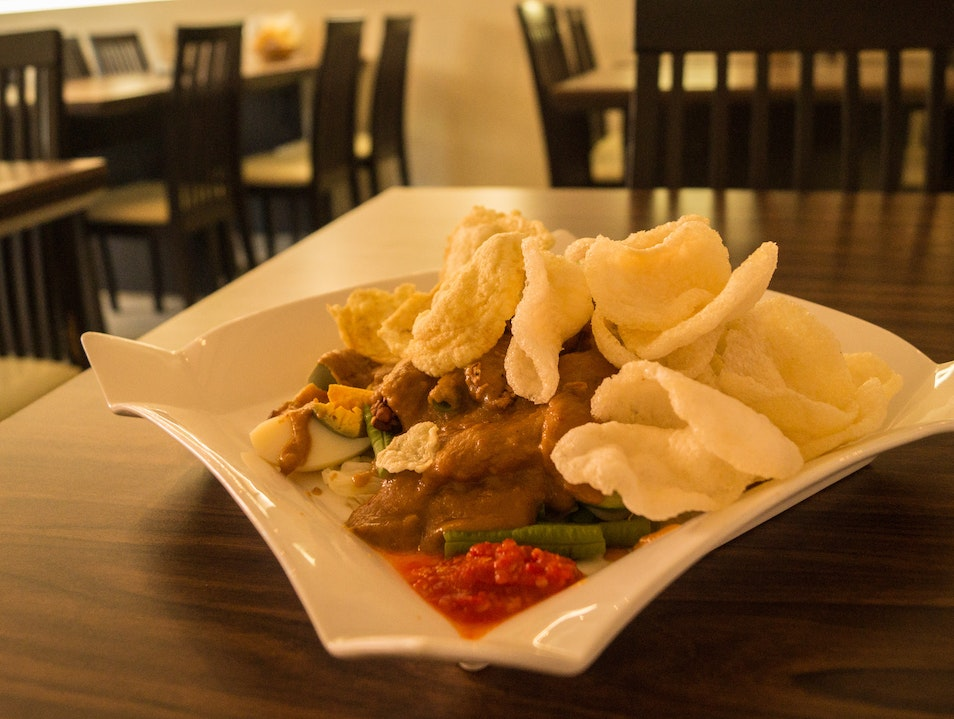 Authentic Indonesian fare in a refined environment