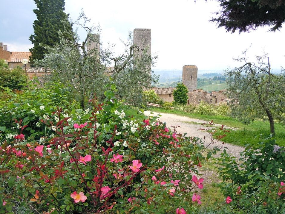 Walking through Ruins in Tuscany San Gimignano  Italy