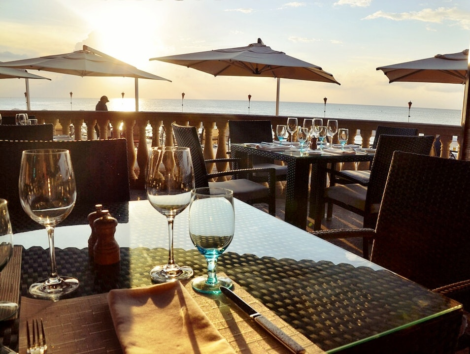 Fine dining on the beach in Grand Cayman George Town  Cayman Islands
