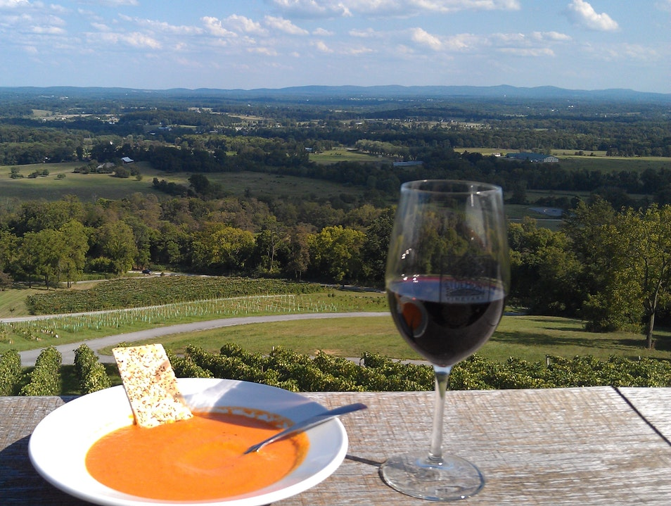 Great Wine, Food, and View!