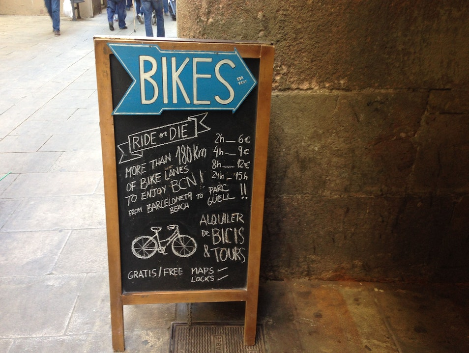 Cycle your way around Barcelona...or face the consequences Barcelona  Spain