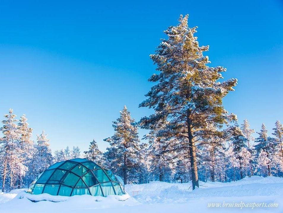 Sleeping in an igloo on the Arctic Circle & visiting Finnish Lapland Saariselkä  Finland