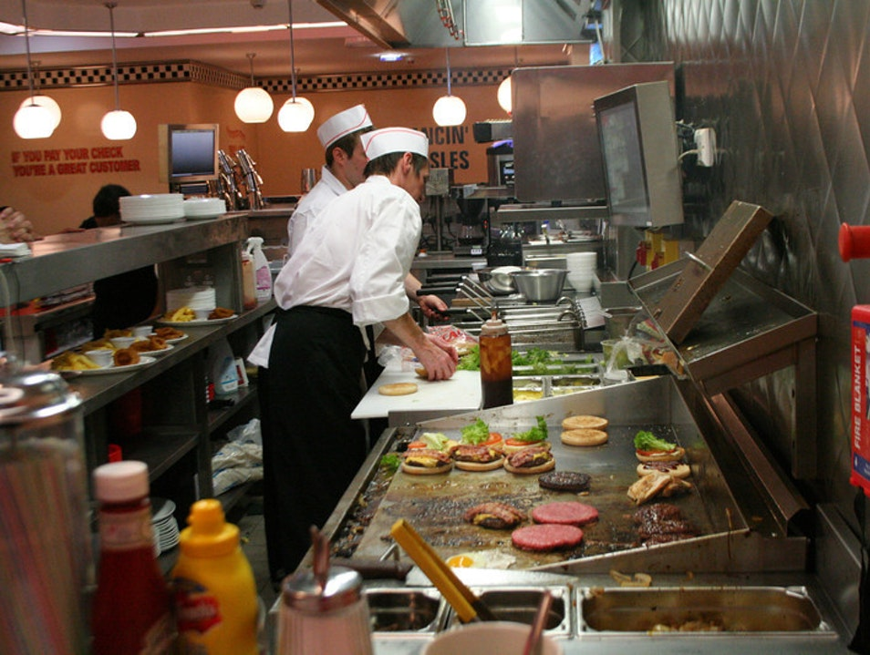 American diner in Wales Cardiff  United Kingdom