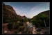 A view from the Virgin River Bridge at Zion National Park, Utah Kanab Utah United States