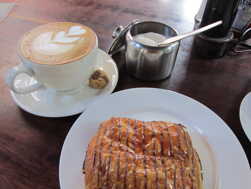 Cappuccino and Pain au Chocolat