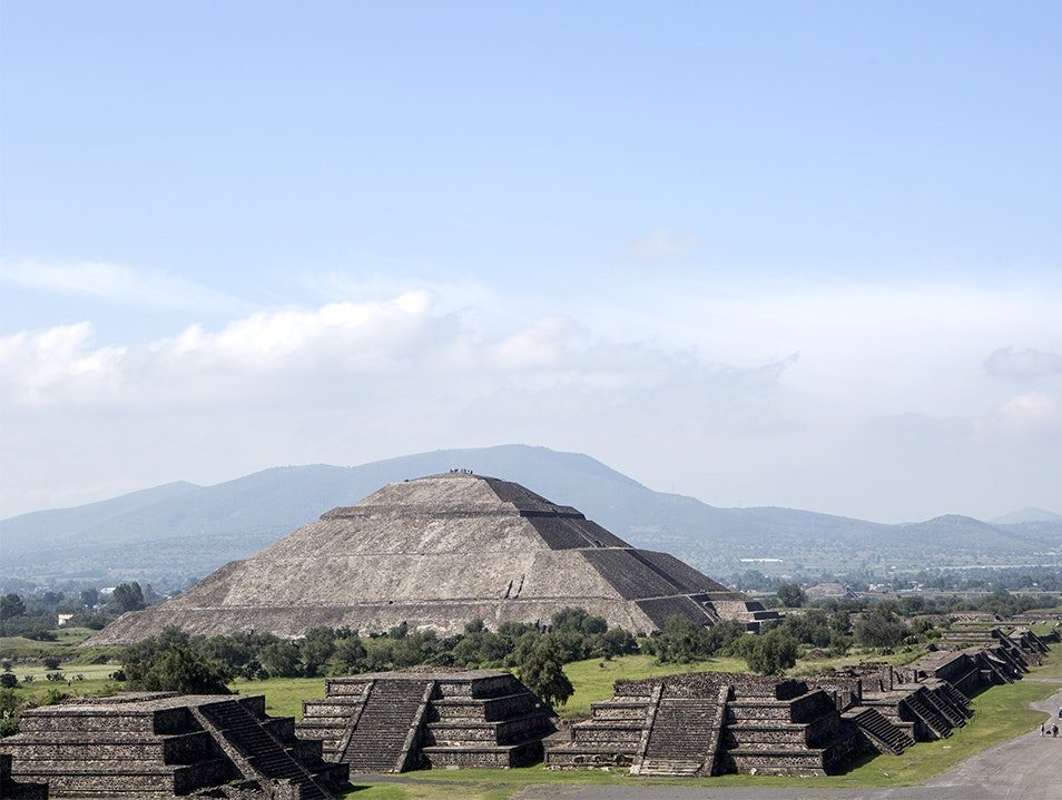 The Pyramids At Teotihuacan   Mexico