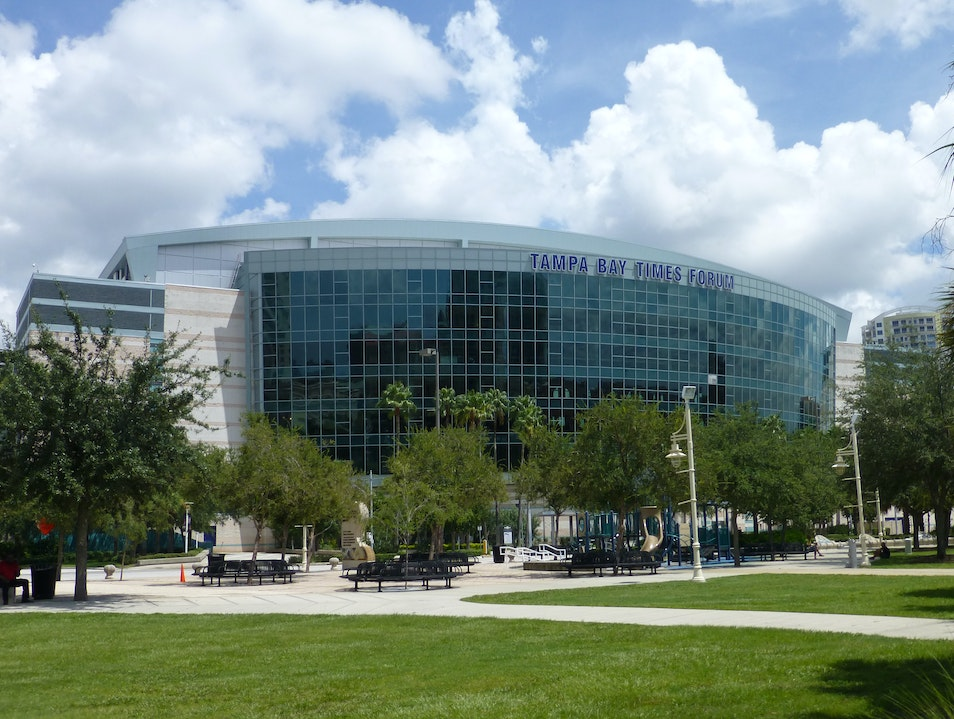 Sports, Music, and Spectacle at the Sparkling Tampa Bay Times Forum Tampa Florida United States