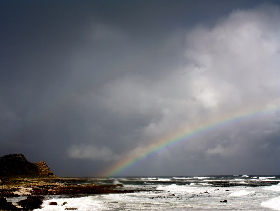 Rainbow at the edge of the world  Cape Town  South Africa