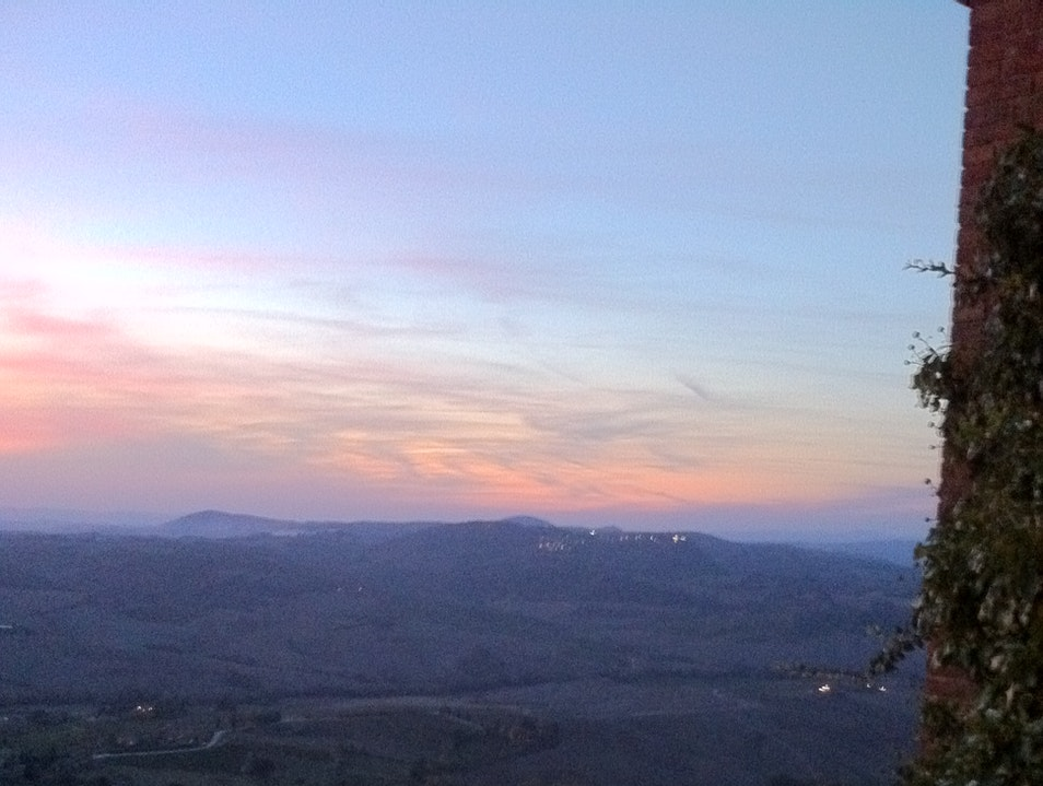 Sunset view from Locanda San Francesco Montepulciano  Italy