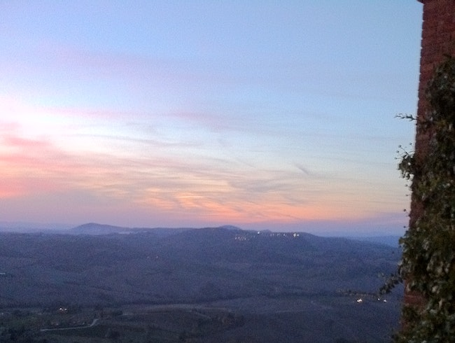 Sunset view from Locanda San Francesco