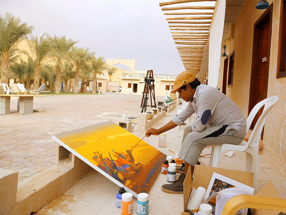 Artist Paradise in the Desert Liwa  United Arab Emirates