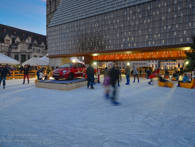 Ice skating in Gent