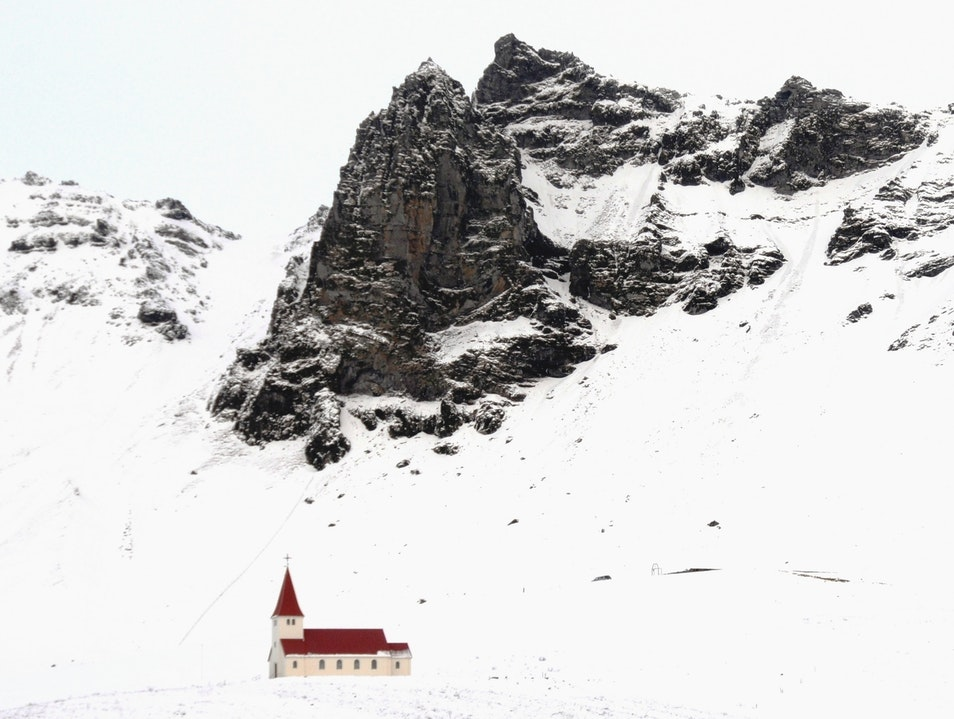 Little Church, Big Mountain Vik  Iceland
