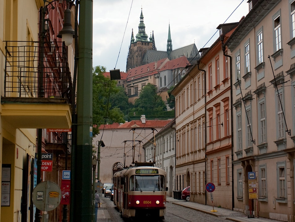 Letenská Street Prague  Czech Republic