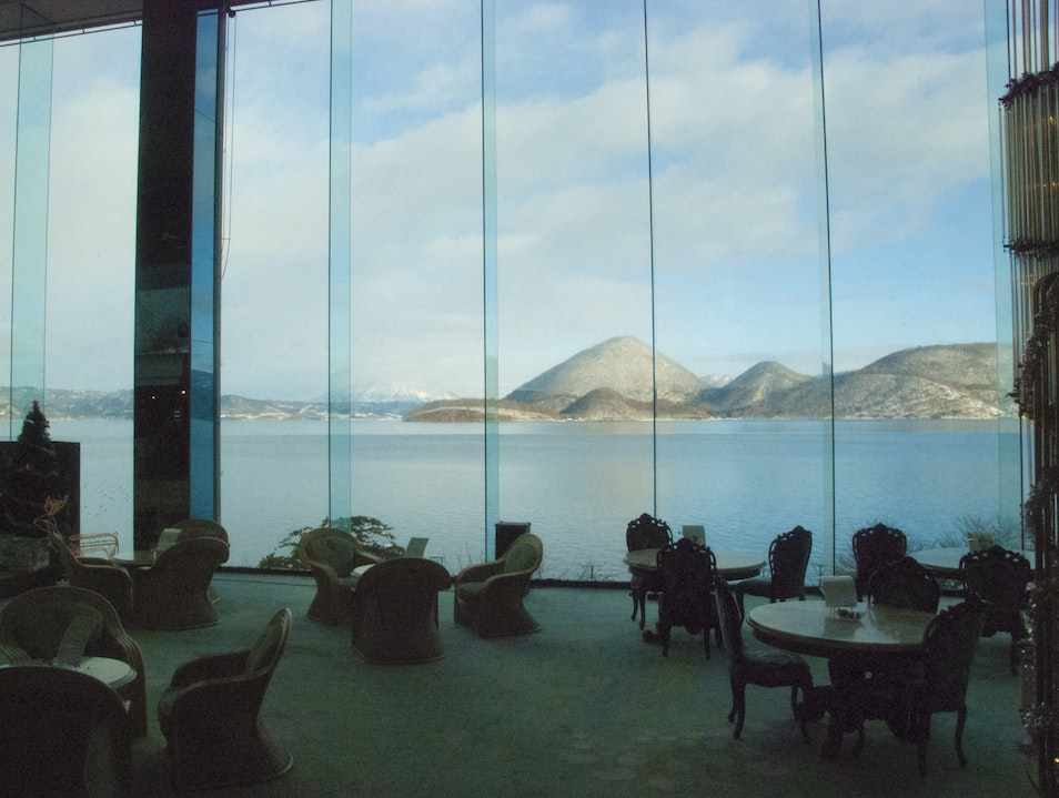 Great Views of Lake Toya from our room