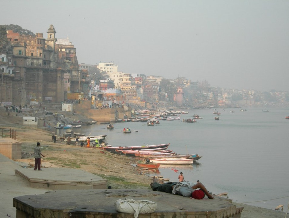Morning Mist on the Ganges Varanasi  India