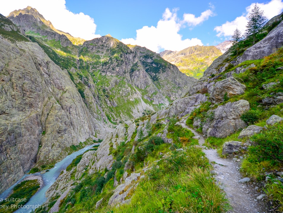 Hike to Trift Bridge Gadmen  Switzerland