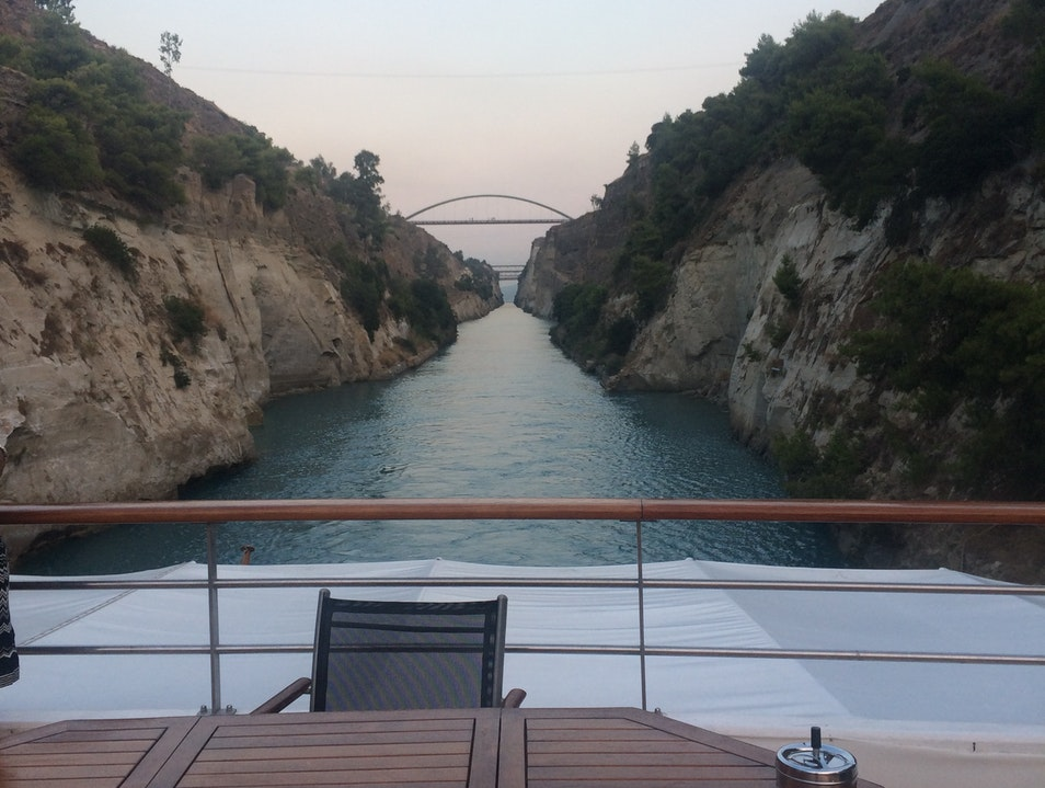 Sailing Through the Corinth Canal Corinth  Greece