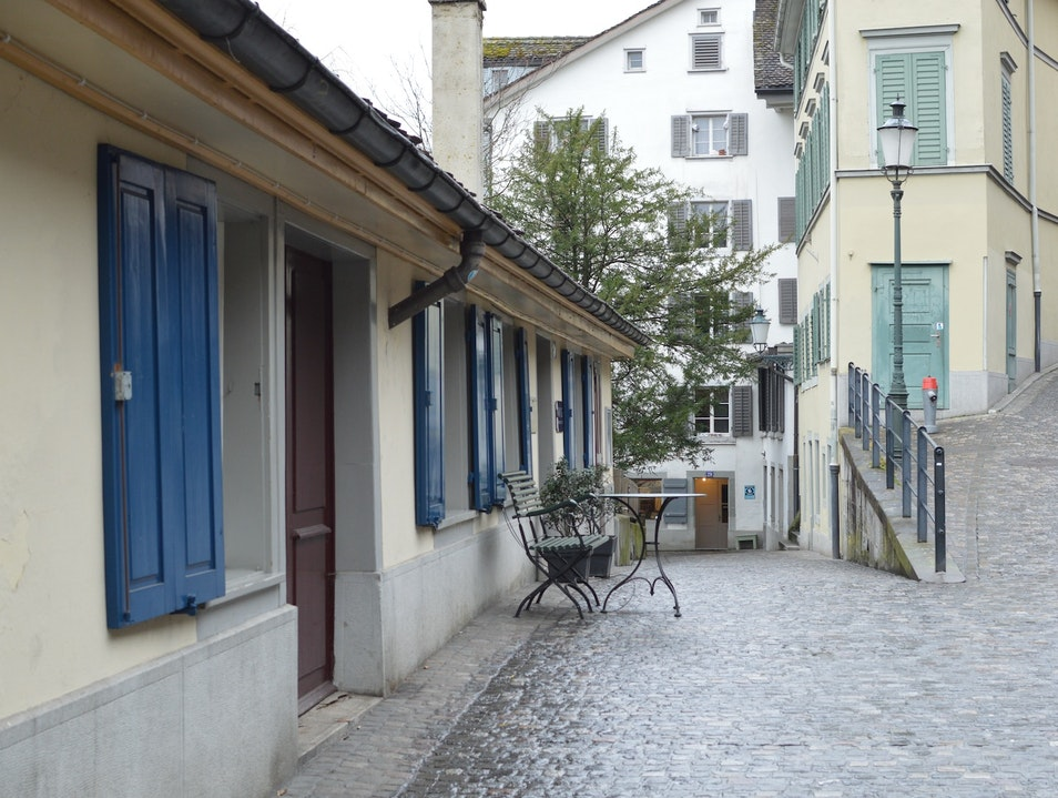 A Charming Cobblestoned Path Along the Limmat