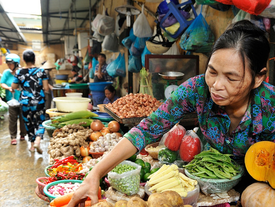 Produce Galore At Major Wholesale Market Hanoi  Vietnam