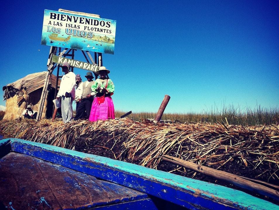 Welcome to the Uros Islands Puno  Peru