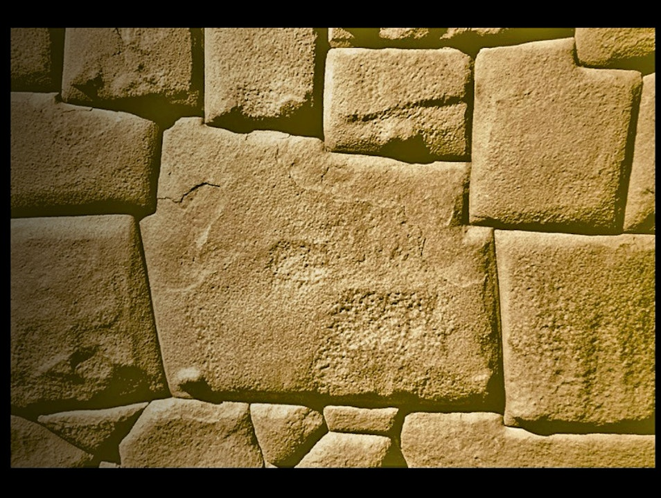 Inca stonework, seismically sound Cuzco  Peru