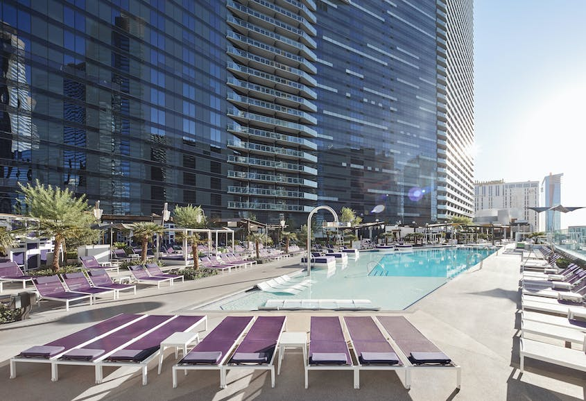 Soak up the sun and relax on a daybed or in a personal cabana, at the stylish Chelsea Pool.