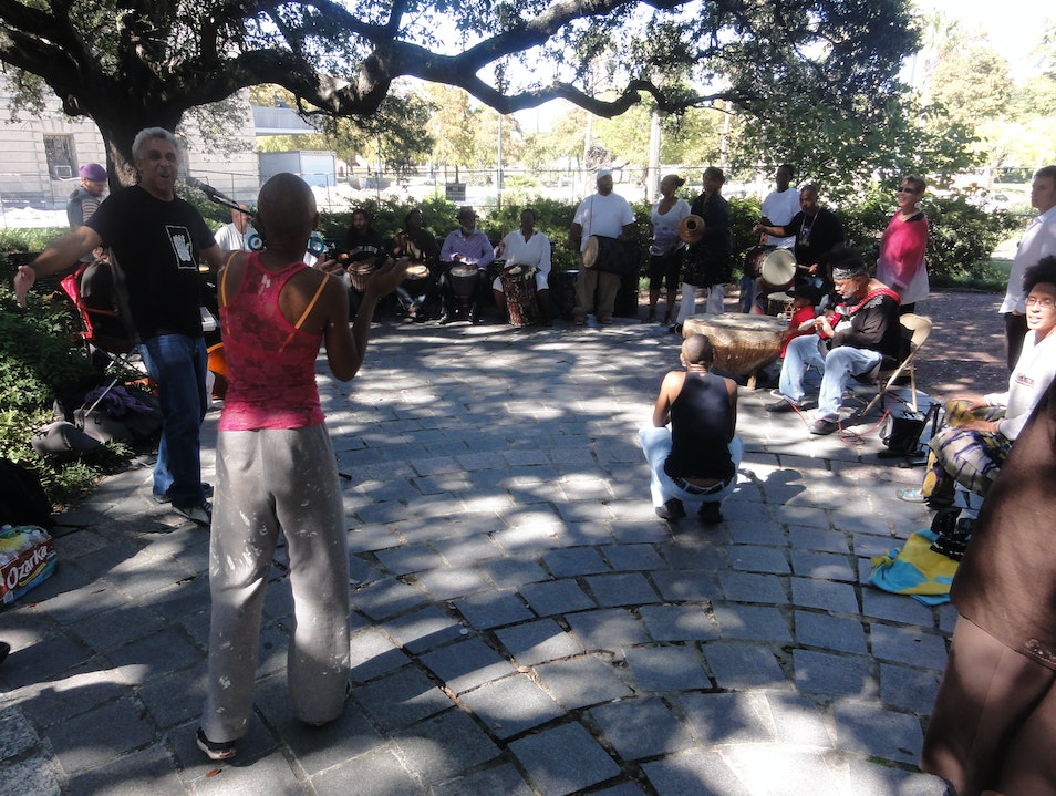 Music and Dancing at the Local Culture Hub of New Orleans New Orleans Louisiana United States